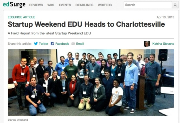 Startup Weekend Education Charlottesville