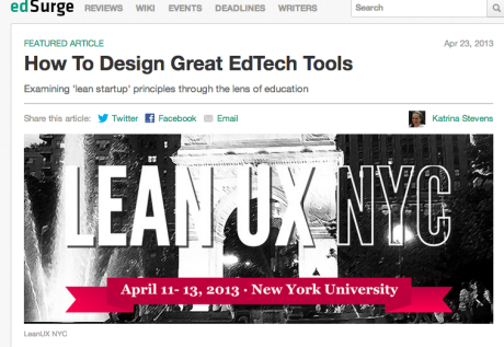Lean UX Edsurge piece